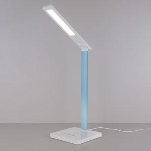 Настольный светодиодный светильник Lori белый/голубой TL90510