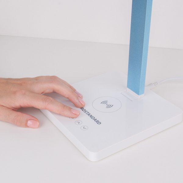 Настольный светодиодный светильник Lori белый/голубой TL90510 1