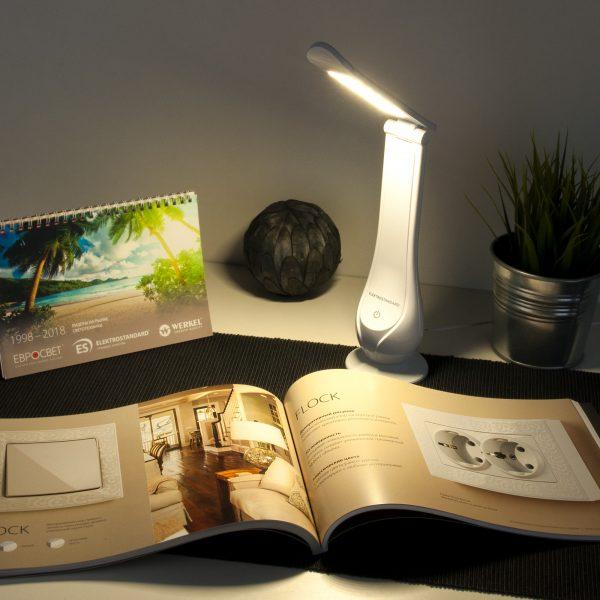 Настольный светодиодный светильник Orbit белый TL90420 1