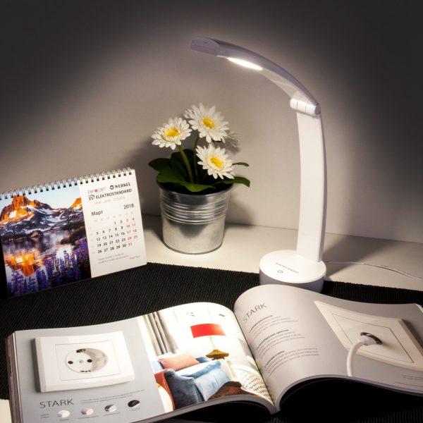 Настольный светодиодный светильник Rizar белый TL90500 1