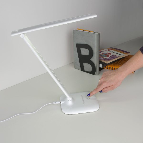 Настольный светодиодный светильник Alcor белый TL90200 5
