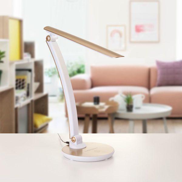 Настольный светодиодный светильник Gander золотой TL90310 5