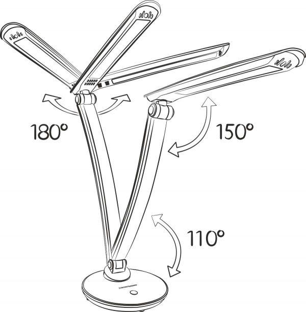 Настольный светодиодный светильник Gander золотой TL90310 4