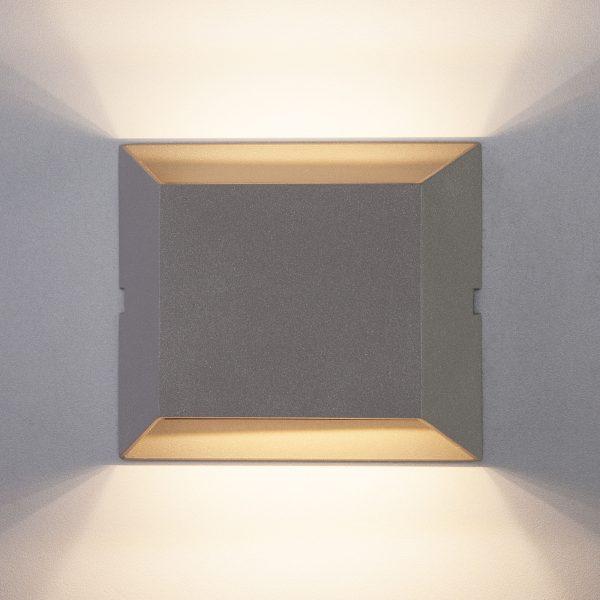 OFION DOUBLE алмазный серый уличный настенный светодиодный светильник 1615 TECHNO LED 1