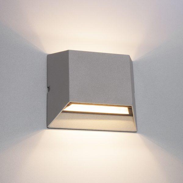 OFION DOUBLE алмазный серый уличный настенный светодиодный светильник 1615 TECHNO LED 2