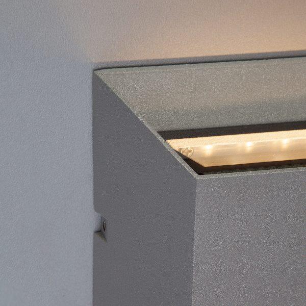OFION DOUBLE алмазный серый уличный настенный светодиодный светильник 1615 TECHNO LED 3