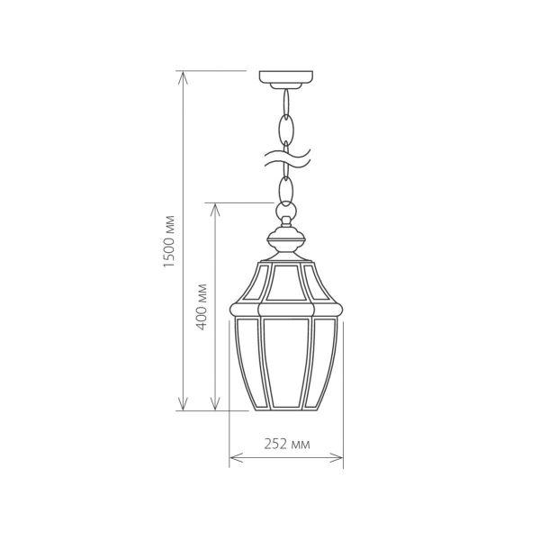 Chatel H медь уличный подвесной светильник GL 1032H 5