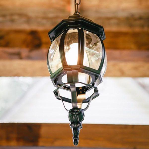 уличный подвесной светильник GL 1001H черный 1