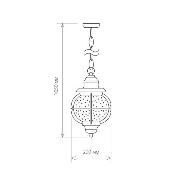 Regul H черная медь уличный подвесной светильник GLXT-1475H 1