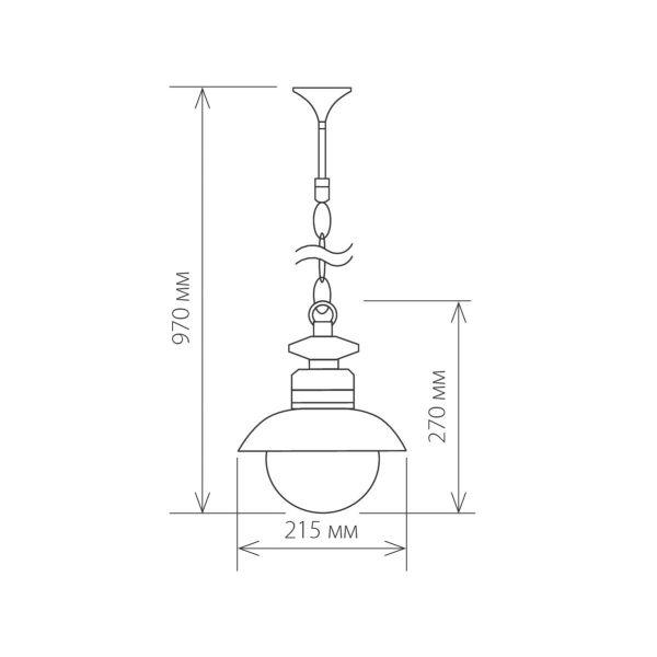 Talli H черный уличный подвесной светильник GL 3002H 1