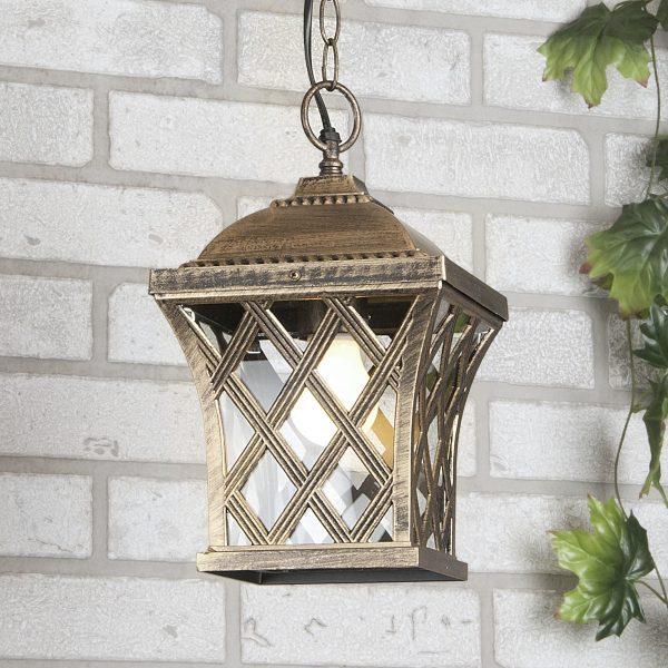 уличный подвесной светильник Cassiopeya H черное золото