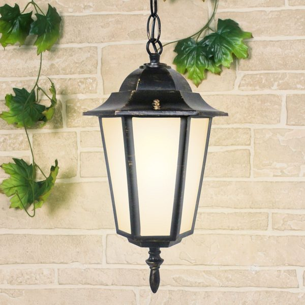 уличный подвесной светильник GL 1004H черное золото
