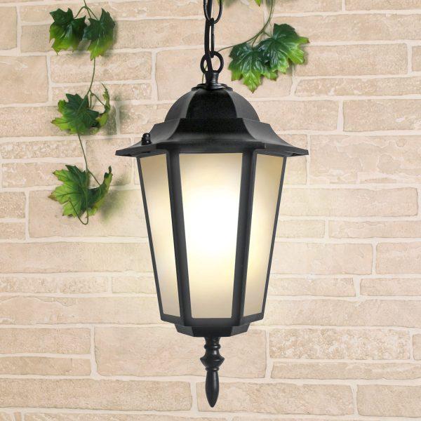 уличный подвесной светильник GL 1004H черный