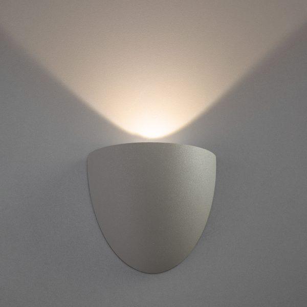 RONGO алмазный серый уличный настенный светодиодный светильник 1610 TECHNO LED 1