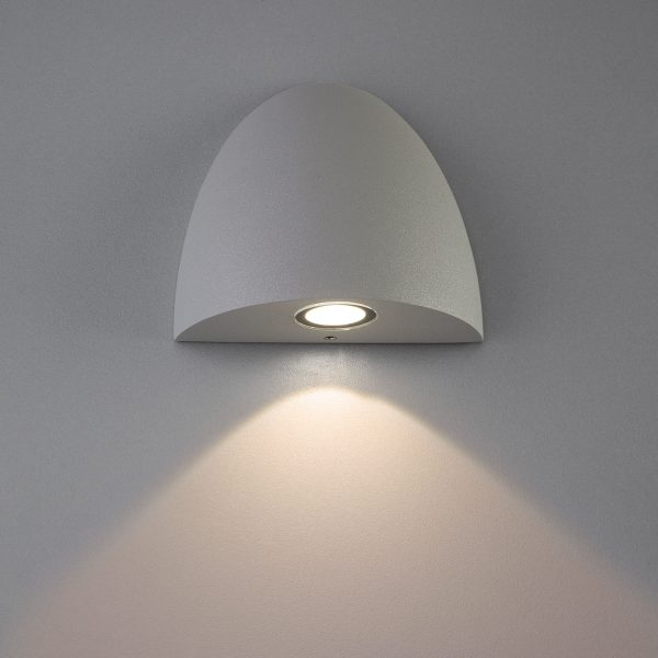 RONGO алмазный серый уличный настенный светодиодный светильник 1610 TECHNO LED 2