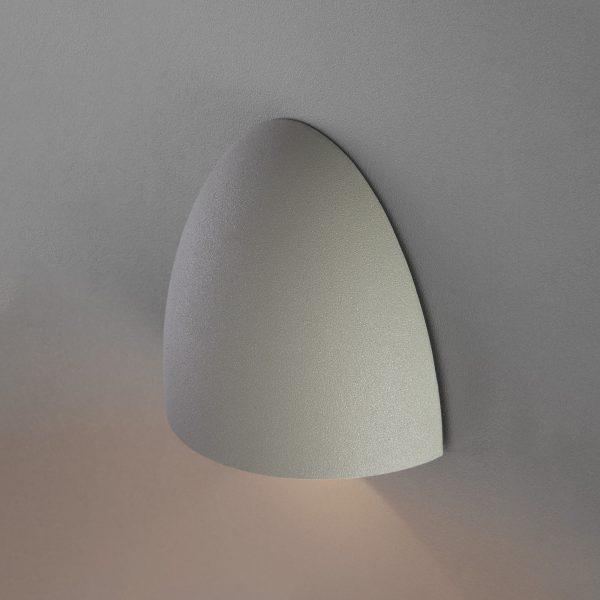 RONGO алмазный серый уличный настенный светодиодный светильник 1610 TECHNO LED 3
