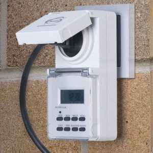 Розетка-таймер 16A x1 IP44 Белый TMH-E-6