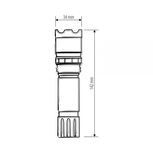 Ручной светодиодный фонарь Focus Line 5