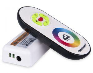 Сенсорный контроллер для светодиодной ленты с ПДУ 12V (радио) IP40 RF RGB 18A