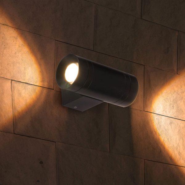 SOKAR графит уличный настенный светодиодный светильник 1605 TECHNO LED 4
