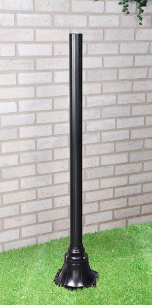 1043 черный Столб 120 см для светильника