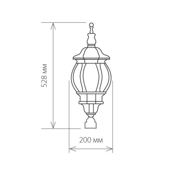 Уличный светильник 1043 черный 100W 2