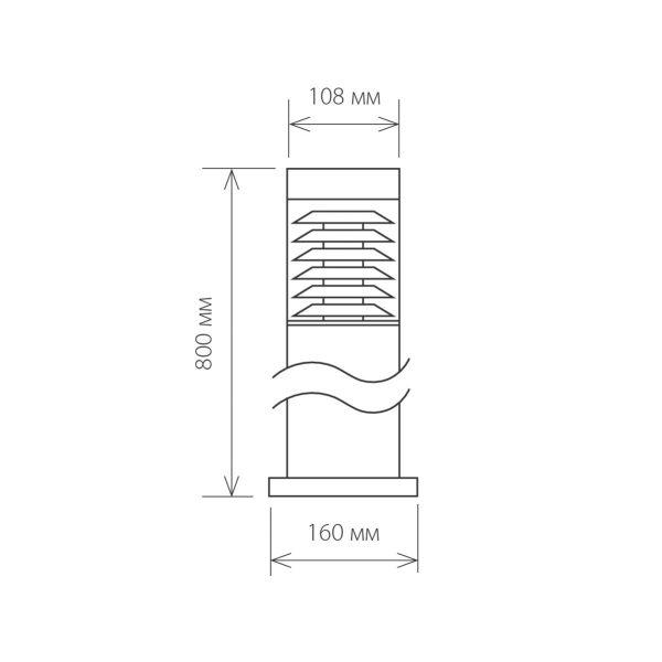 уличный светильник на столбе 1507 TECHNO серый 2