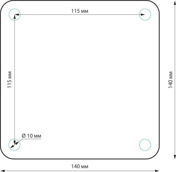 уличный светильник на столбе 1550 TECHNO черный 1