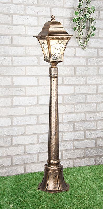 черное золото уличный светильник на столбе Altair F