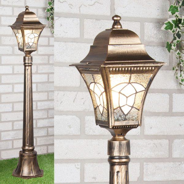 черное золото уличный светильник на столбе Altair F 1