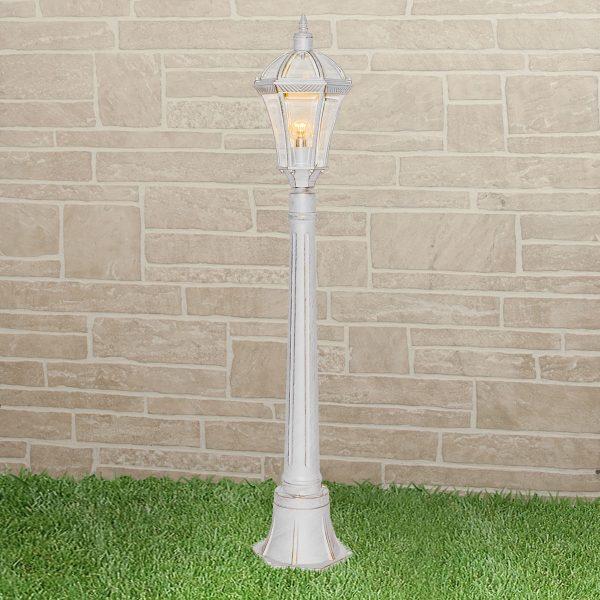 уличный светильник на столбе Capella F белое золото