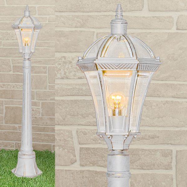 уличный светильник на столбе Capella F белое золото 1