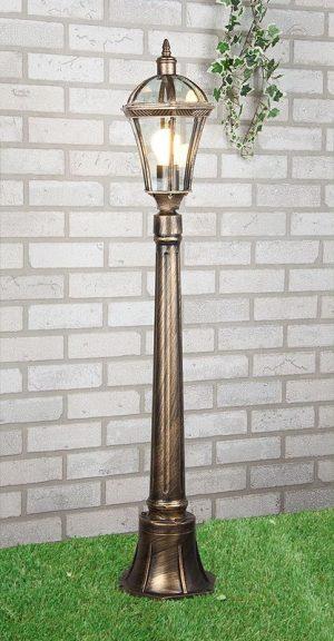 уличный светильник на столбе Capella F черное золото