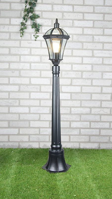 уличный светильник на столбе Capella F черный