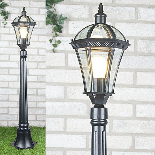 уличный светильник на столбе Capella F черный 1