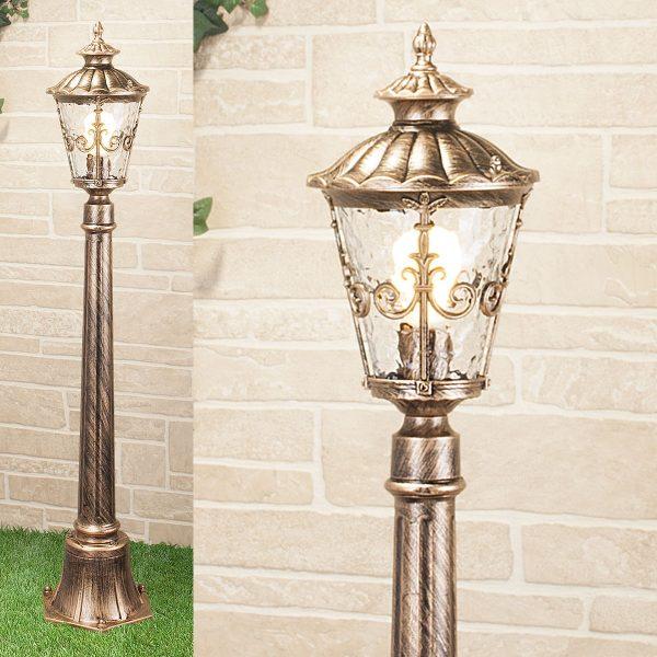 Diadema F черное золото уличный светильник на столбе GLYF-8046F 1