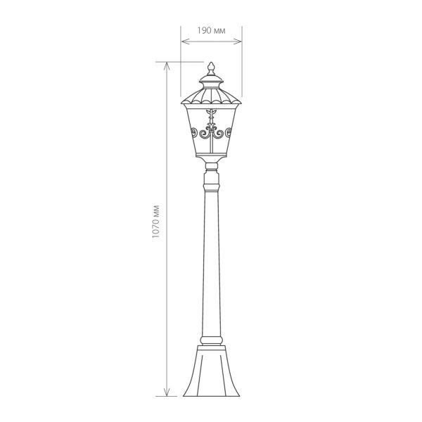 Diadema F черное золото уличный светильник на столбе GLYF-8046F 3