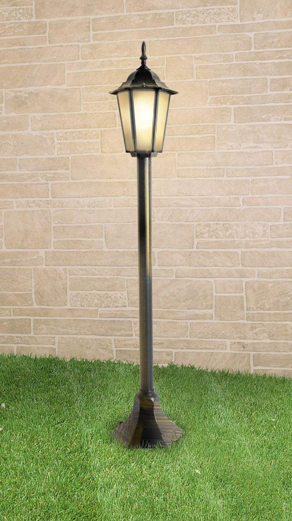 уличный светильник на столбе GL 1014F черное золото
