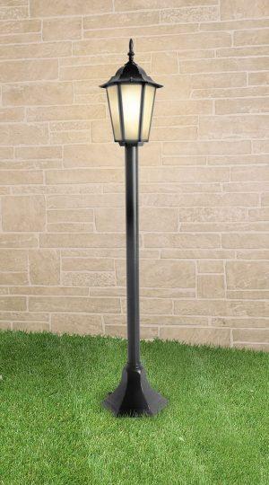 уличный светильник на столбе GL 1014F черный