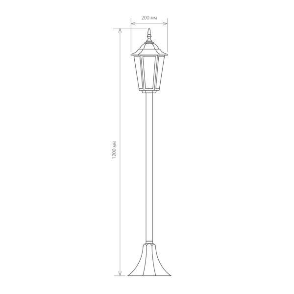 Уличный светильник на столбе GL 1014F черный 1
