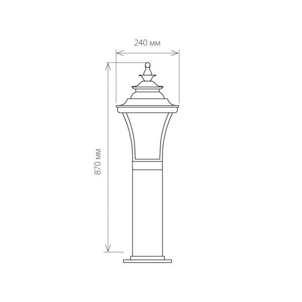 Libra F венге уличный светильник на столбе GLXT-1408F 3