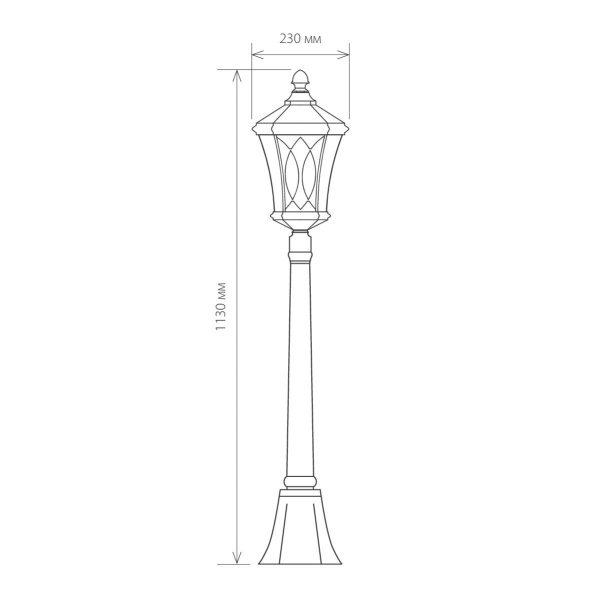 Virgo F черное золото уличный светильник на столбе GLXT-1450F 8