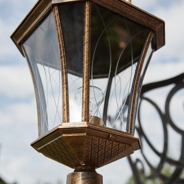 Virgo F черное золото уличный светильник на столбе GLXT-1450F 5
