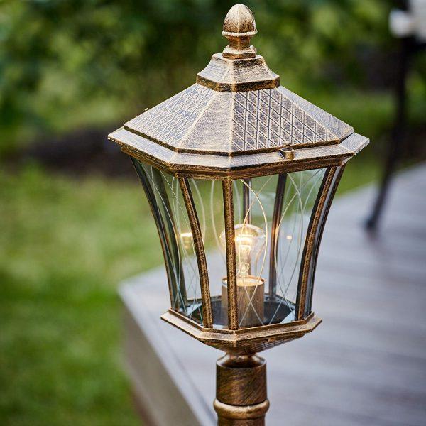 Virgo F черное золото уличный светильник на столбе GLXT-1450F 7