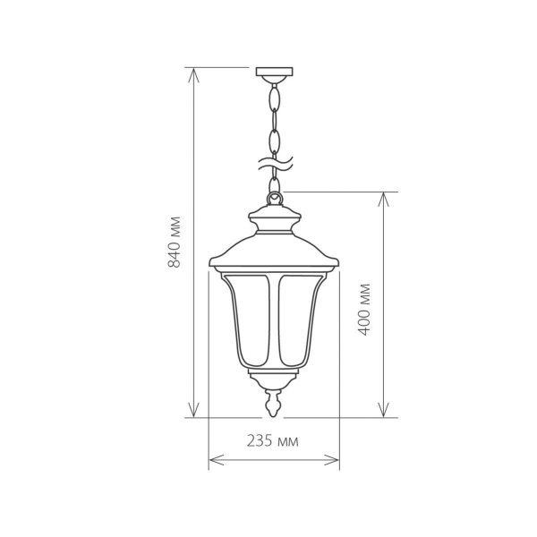 Carina H черный уличный подвесной светильник GLYF-1452H 1