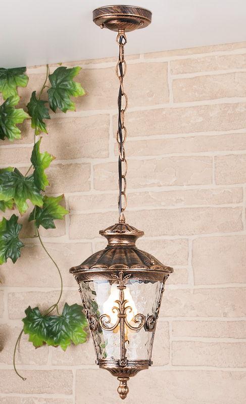 Diadema H черное золото уличный подвесной светильник GLYF-8046H
