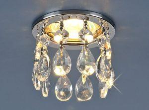 Светильник точечный с хрусталем 2055 CH/Clear (хром / прозрачный хрусталь)