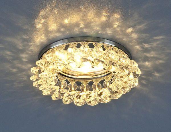 Светильник точечный с хрусталем 206 MR16 CH/CL хром/прозрачный