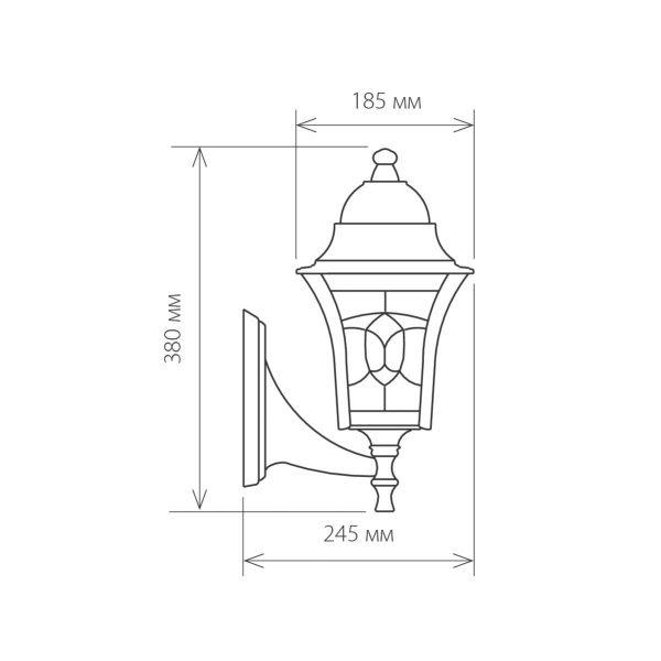 уличный настенный светильник Altair черное золото 1