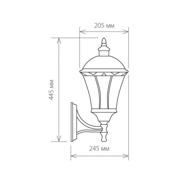 уличный настенный светильник Capella черный 1